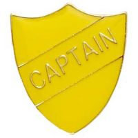ShieldBadge Captain Yellow</br>SB019Y